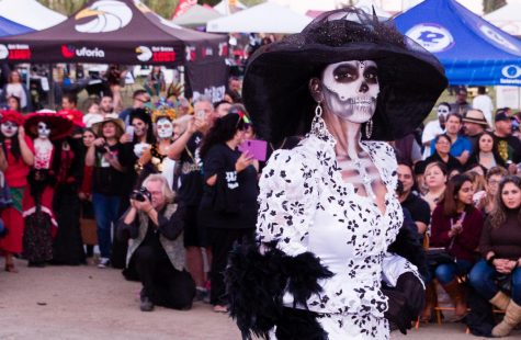 The winner of the catrina contest at La Vista Memorial Park and Mortuary