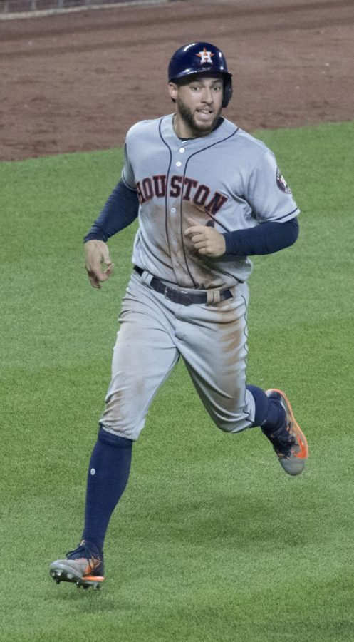 George Springer during the Astros vs Orioles game, July 21, 2017.