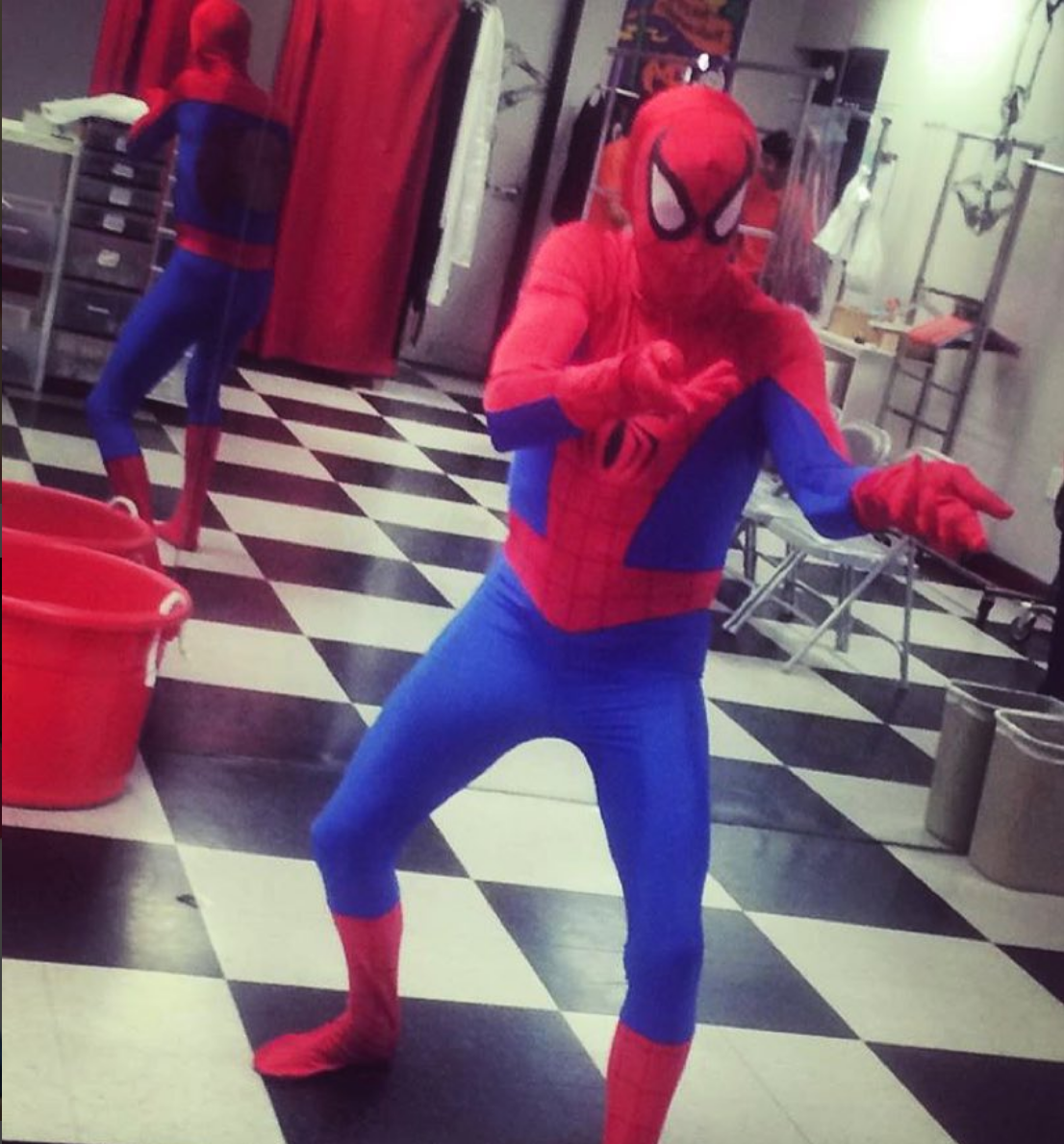 If you think Fortnite is a band and not an action-packed video game, Spider-Man may be the costume for you. Buffalo Breath Instagram photo.