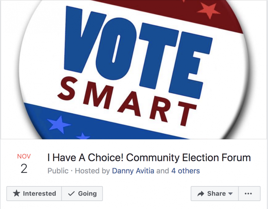 Election forum event on Facebook