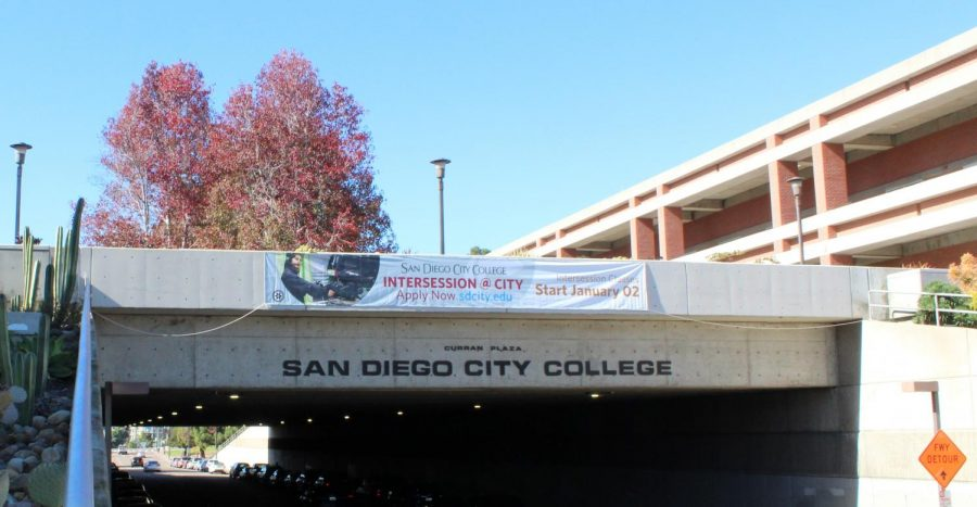San+Diego+City+College+sign+at+B+street.