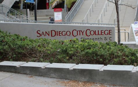 San Diego City College sign on corner of 16th and C st.
