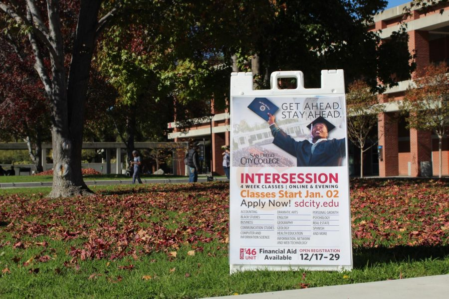 Intercession signs on campus