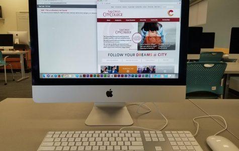 Picture of website on desktop