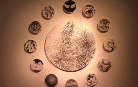 Works of art on display