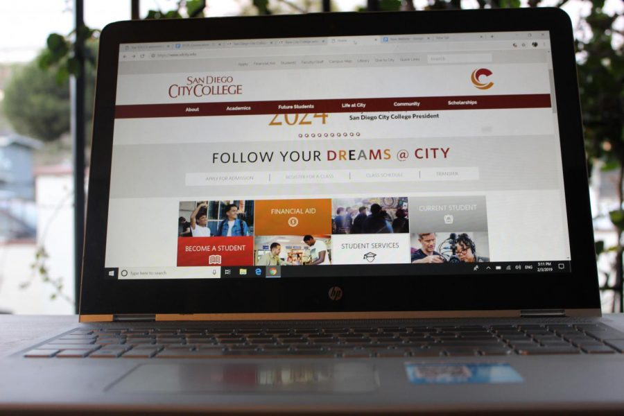 New San Diego City College website homepage.
