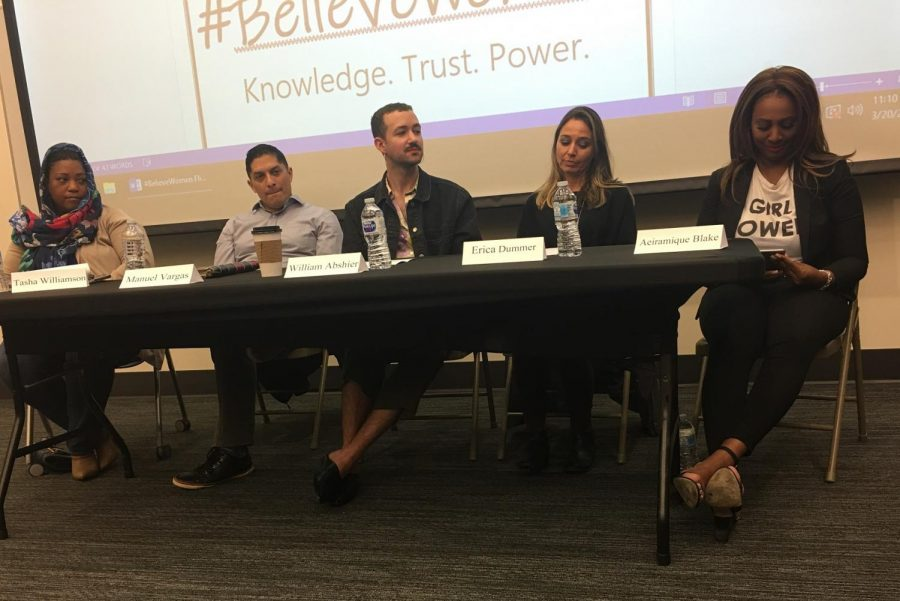 Panel at #BelieveWomen event