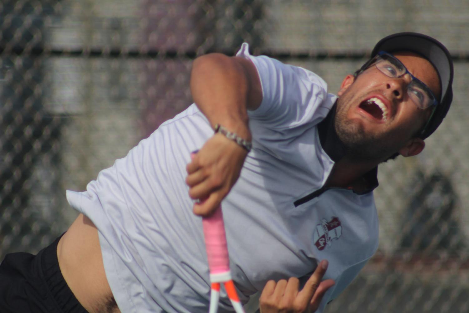 Veteran players like Manuel Cardona provides the necessary leadership for the young tennis squad. By Jonny Rico/City Times