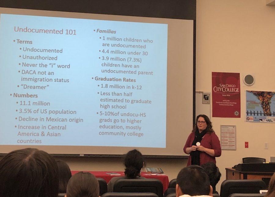 Marisol+Clark-Ibanez+presenting+at+City+College