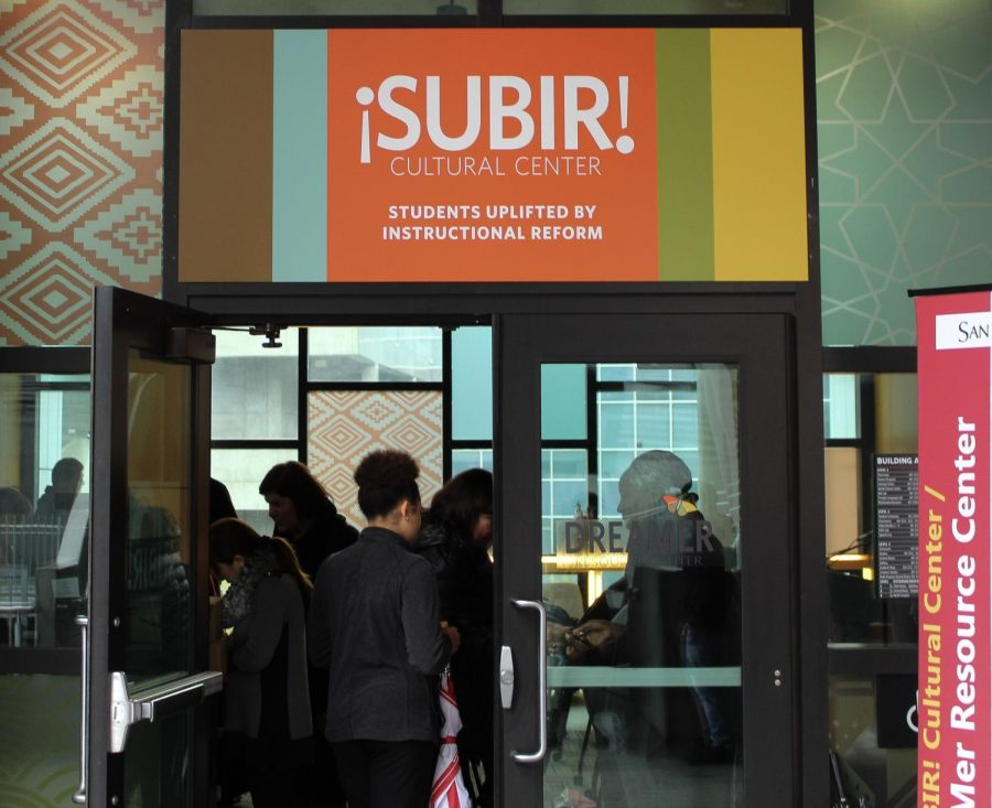 Students walk into the Subir Cultural Center here at San Diego City College.