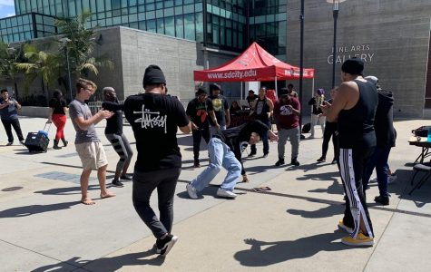 Group of students dance