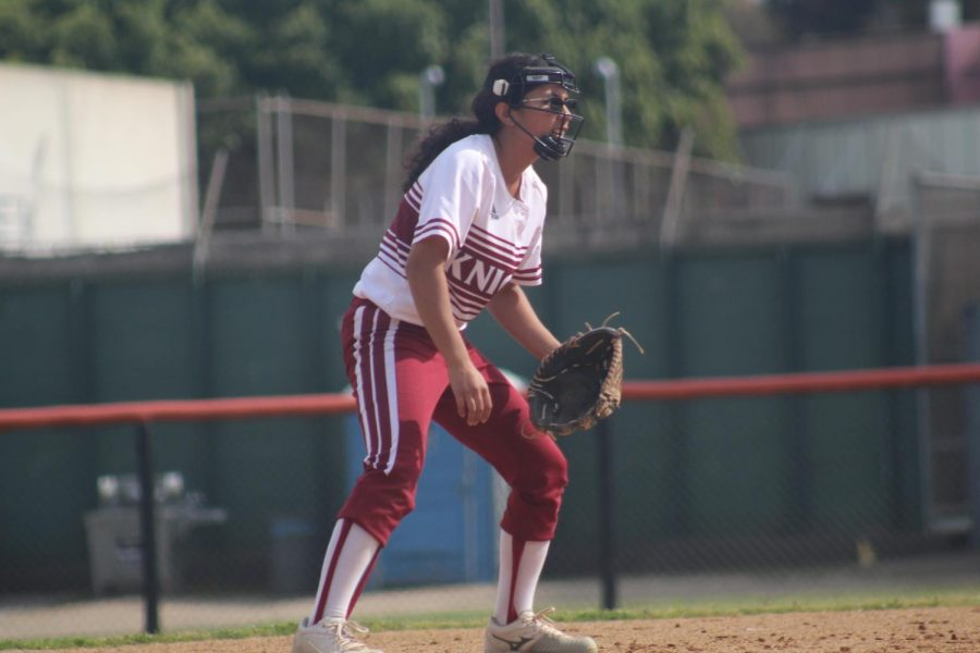 Vanessa Tirado at shortstop