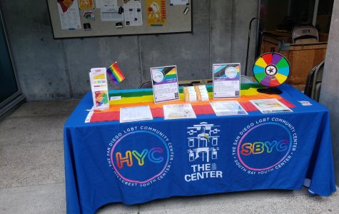 A booth from the San Diego LGBT Community Center