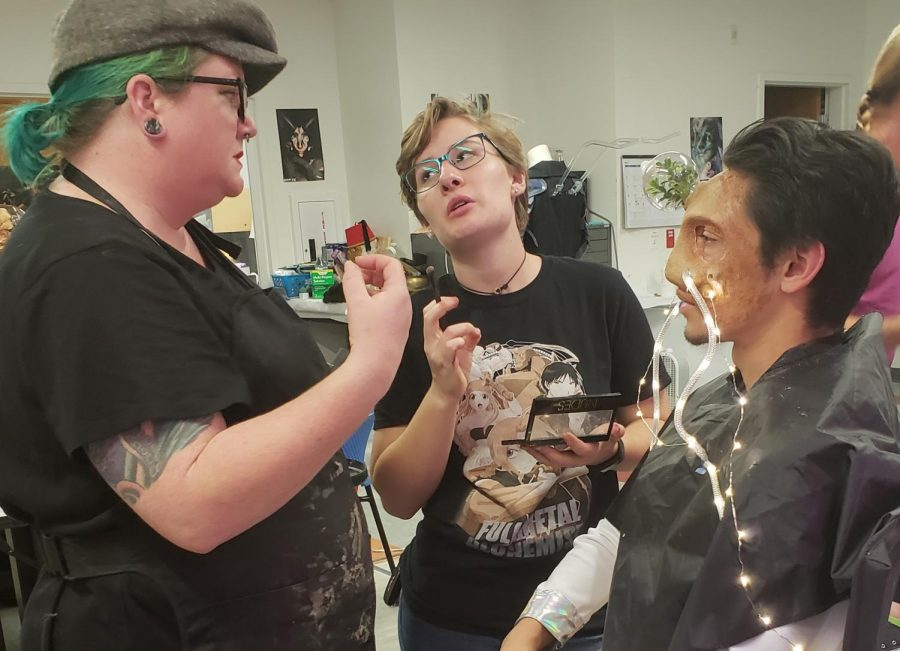 City FX students discuss their project while preparing for Breakthrough: The future