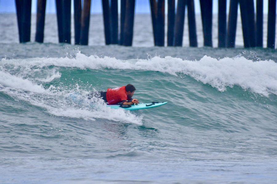 Humberto Gurmilan surfing.