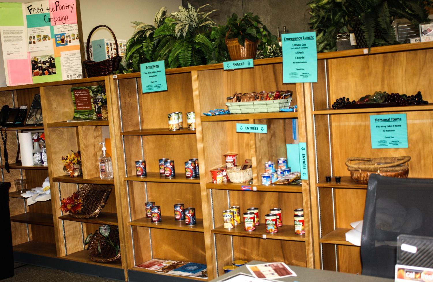 The City College food pantry is open to any student with a valid student I.D. Photo by Aurora Ruvalcaba