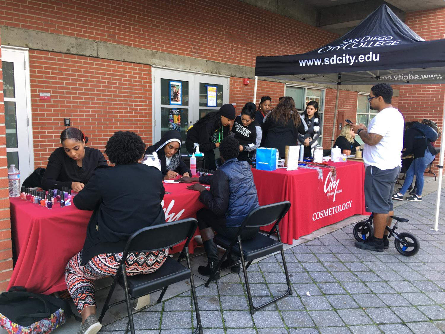 The Cosmetology Department was one of the many programs on hand for the City College Block Party. Photo by Melisa Cabello-Cuahutle
