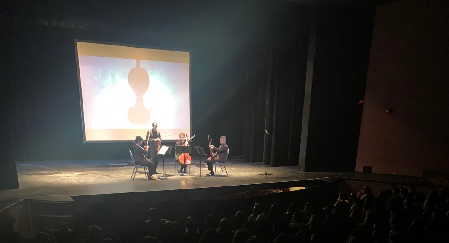 The San Diego Symphony string quartet presented at Saville Theatre on the campus of San Diego City College last month. Photo by Jade Benn