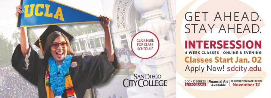 San Diego City College announces 2020 intersession.