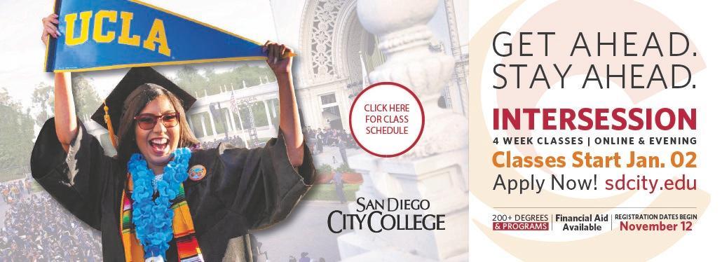 San Diego City College announces 2020 intersession.