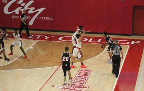 City men's basketball team wins over Palomar College