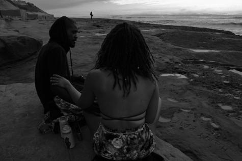 Ty Johnson and Nicole Mckissick enjoying the beach
