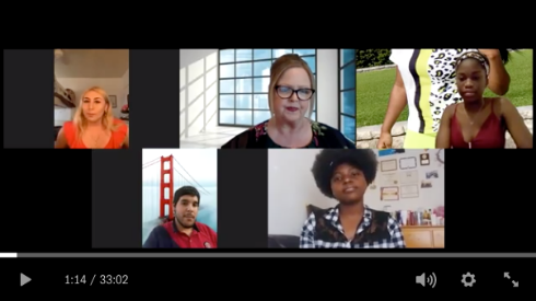 ASG advisor Lori Oldham hosted a candidate forum last week over Zoom. Dropbox screenshot