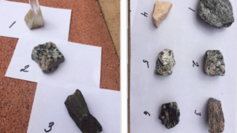 Rocks from geology lab