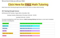 Math tutoring resources