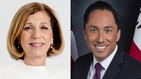 Barbara Bry (left) and Todd Gloria