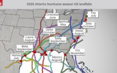 US Hurricane Landfall Map