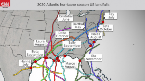 US Hurricane Landfall Map