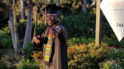 Lorenzo Brooks Graduation Photo