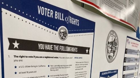 A Voter Bill of Rights poster