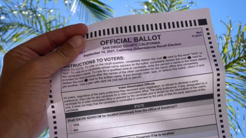 San Diego recall ballot