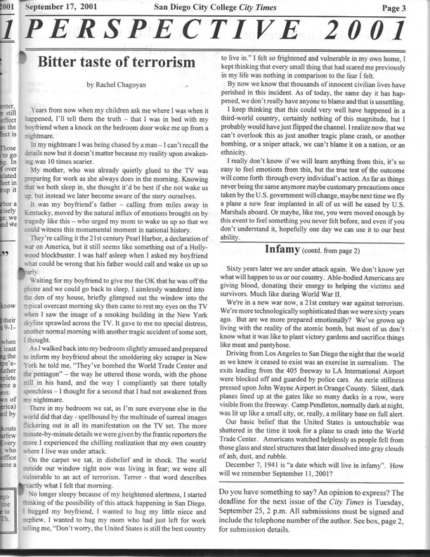 City Times, Sept. 14, 2001 page 3