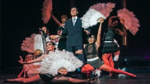 Image of City students performing the musical Chicago