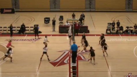 Knights Volleyball plays at home match against Imperial Valley college on Oct. 20 Zoom screen-shot